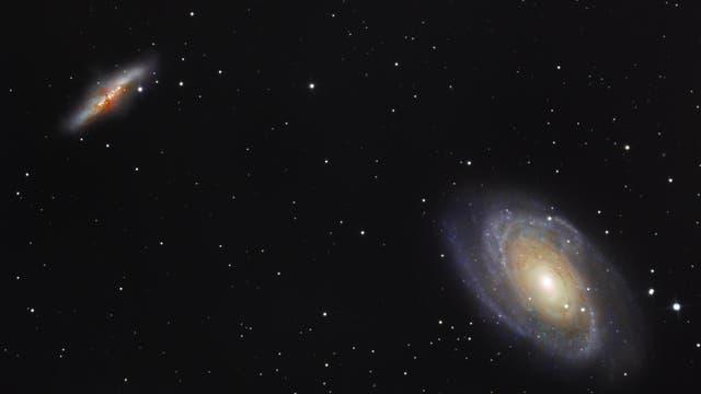Messier 81 und Messier 82 mit Supernova