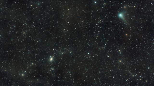 Messier 81, 82 und Komet Garradd