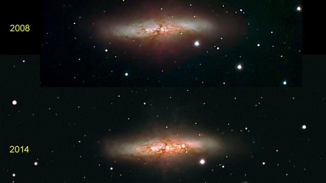 M 82 mit SN 2014J