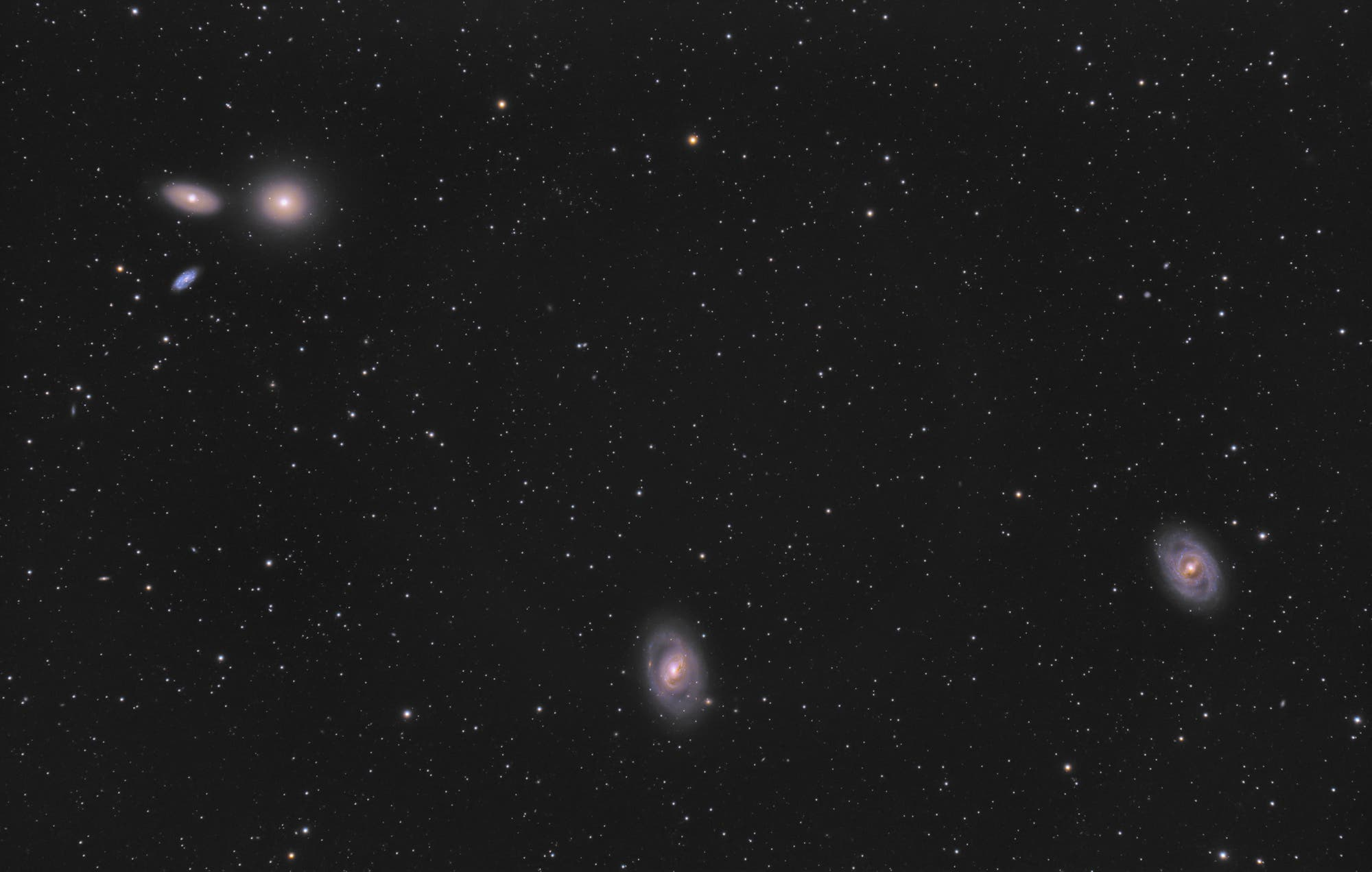 Die Galaxien Messier 95, Messier 96 und Messier 105