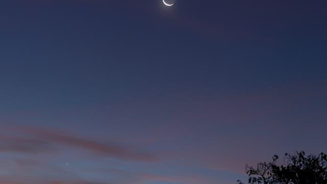 Merkur, Venus und der Mond