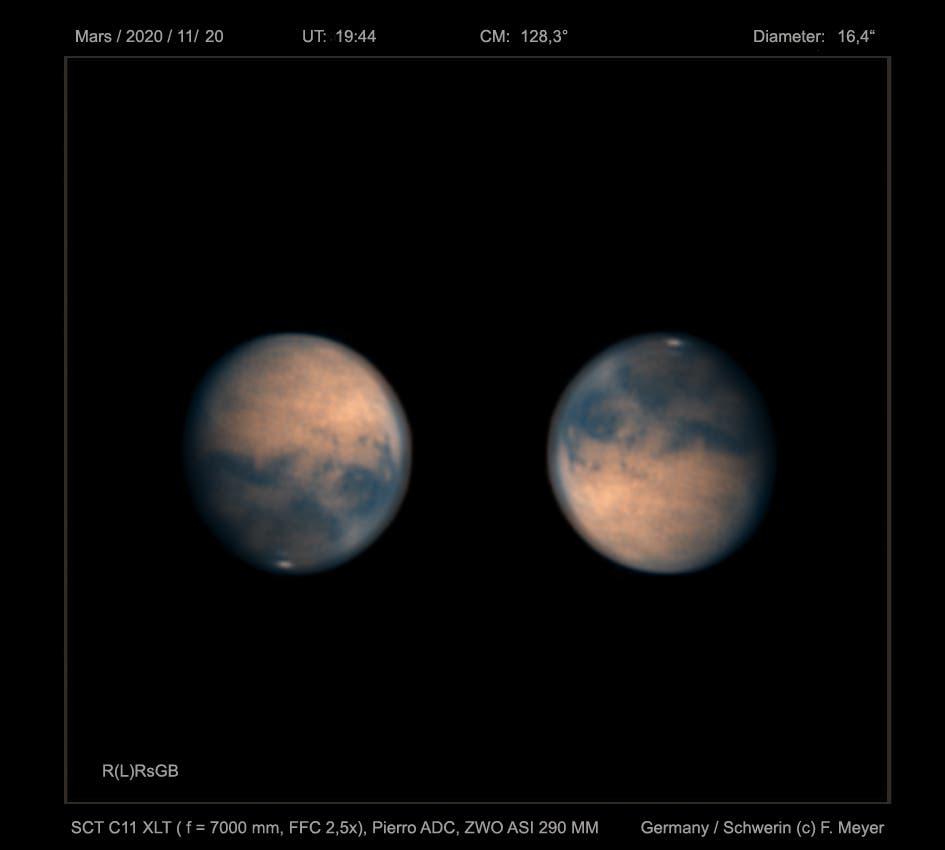 Mars am 20. November 2020