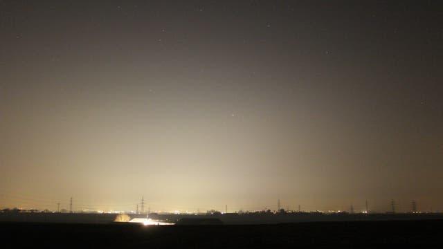 Mars im Grenzgebiet der Sternbilder Skorpion und Waage