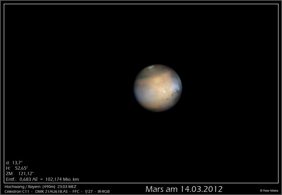 Mars am 14.3.2012