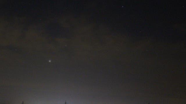 Mars, Jupiter und Spika über Maichingen