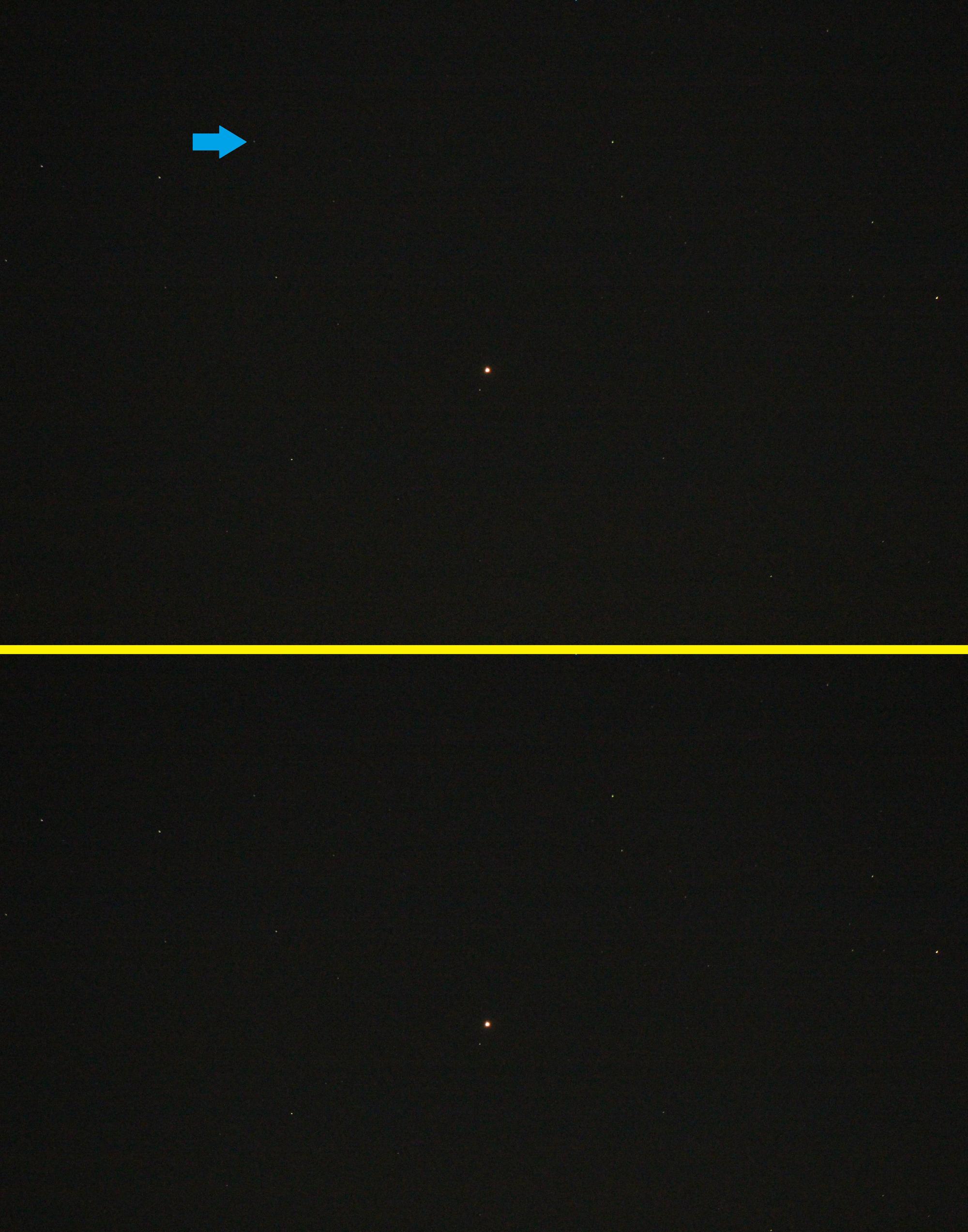 Konjunktion zwischen Mars und Neptun am 12. Juni 2020