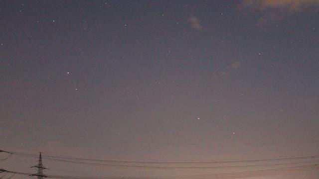 Mars, Spika und Saturn