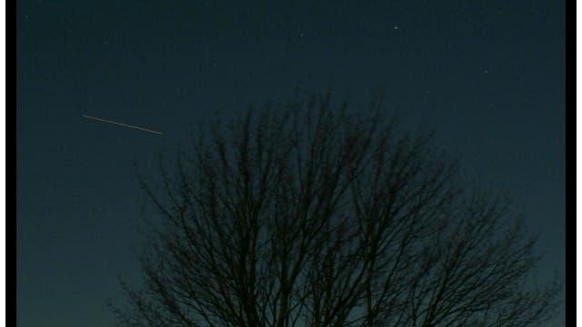 Merkur, Venus und ISS-Spur