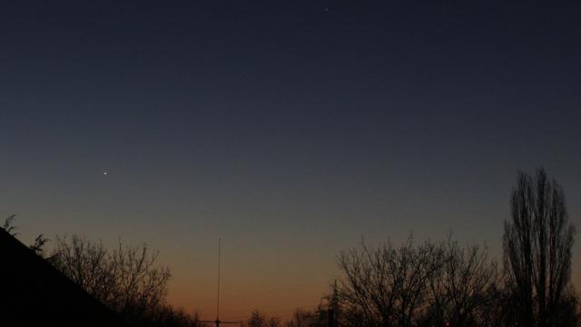 Merkur am Morgenhimmel
