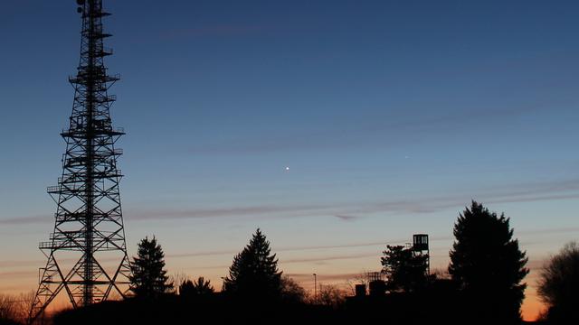 Merkur und Venus in der Abenddämmerung