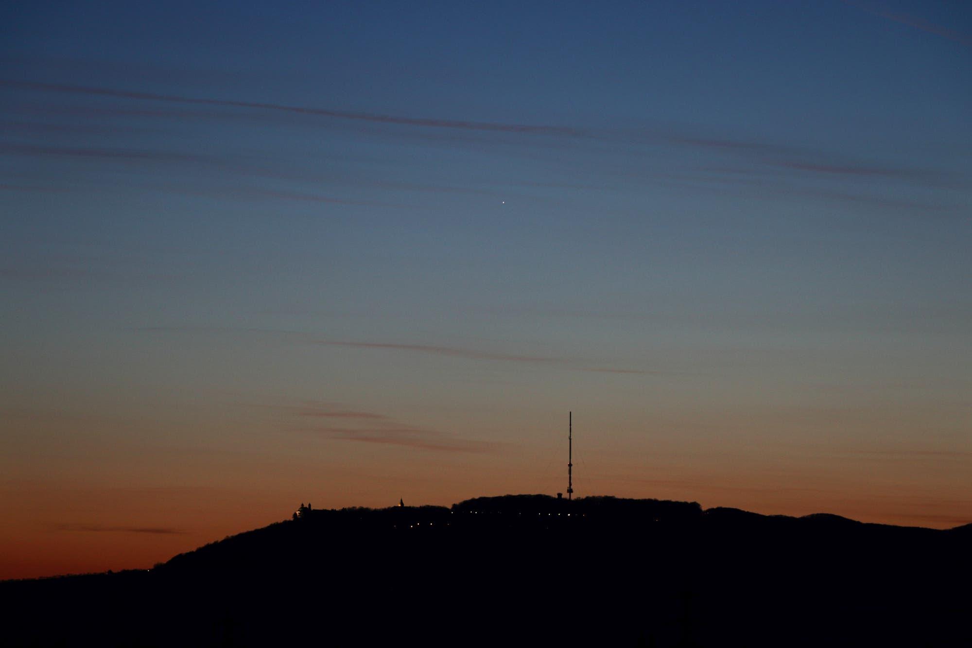 Merkur am Abendhimmel