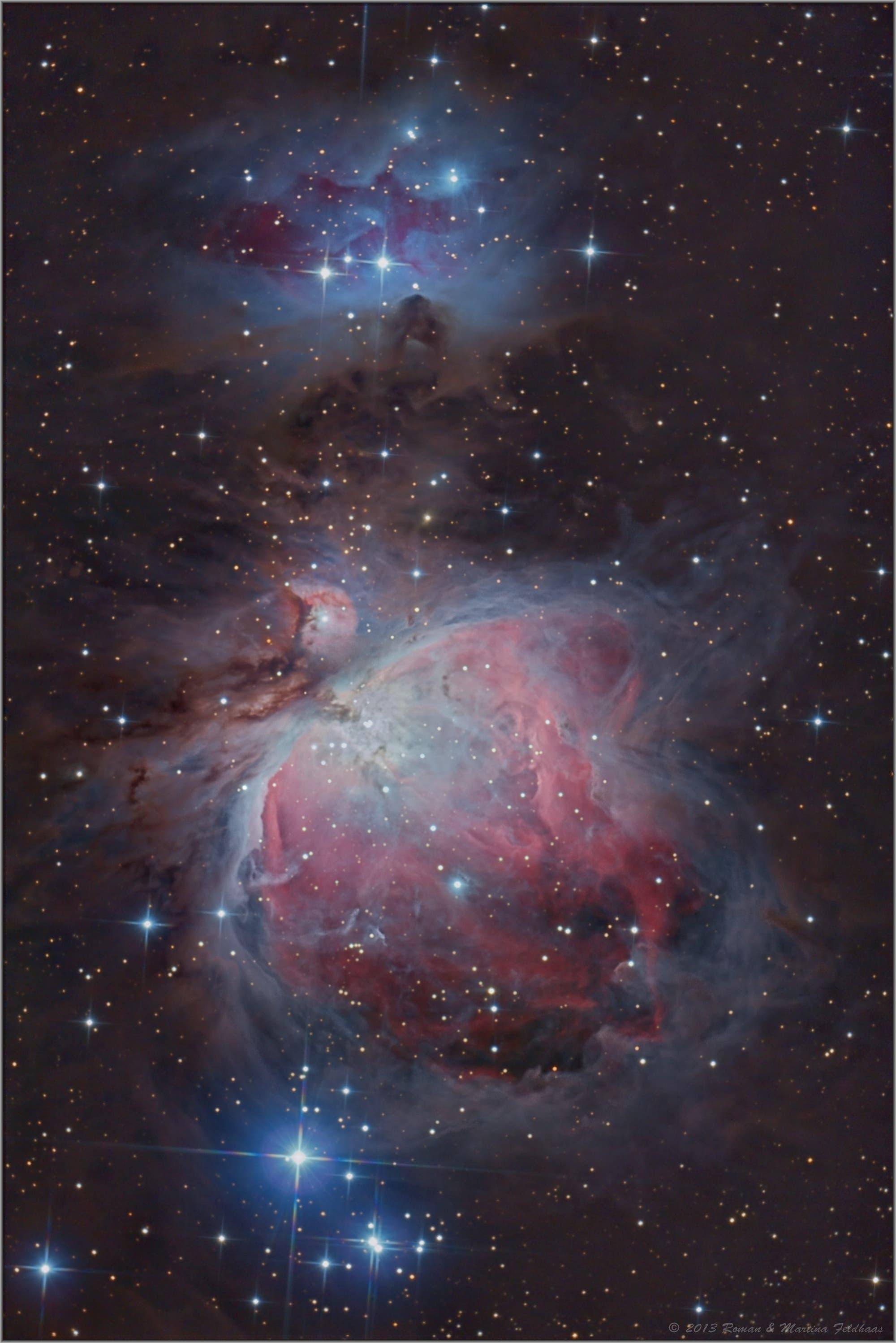 Messier 42 und 43 - (Orionnebel) inkl. Running Man