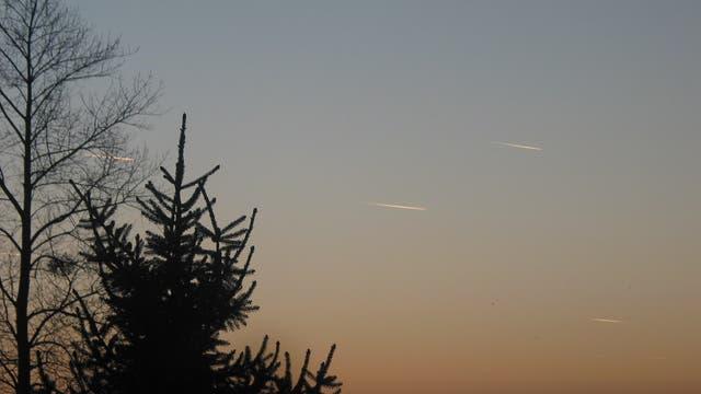 Meteoriten in der Dämmerung
