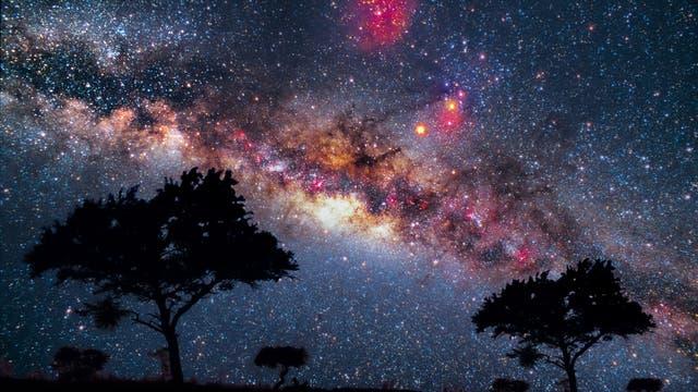 Milchstraße in Namibia, aufgenommen auf Diafilm