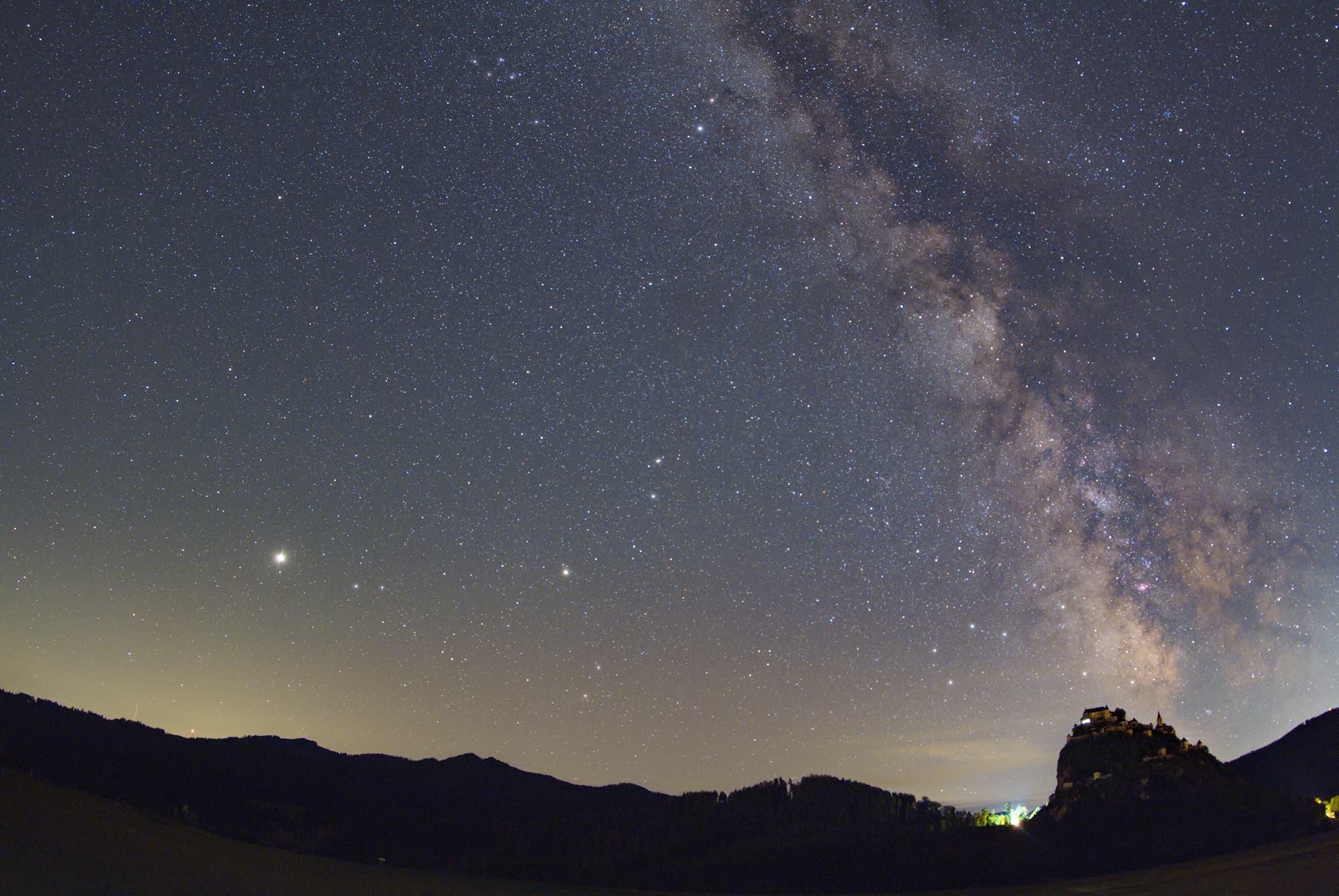Milchstraße mit Jupiter und Saturn