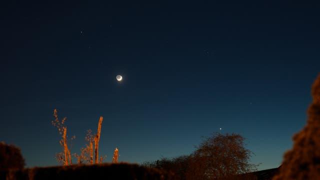 Stelldichein Mond-Venus am 18. April 2018 im Stier