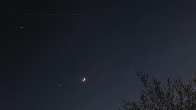 Mond, Venus, Jupiter.