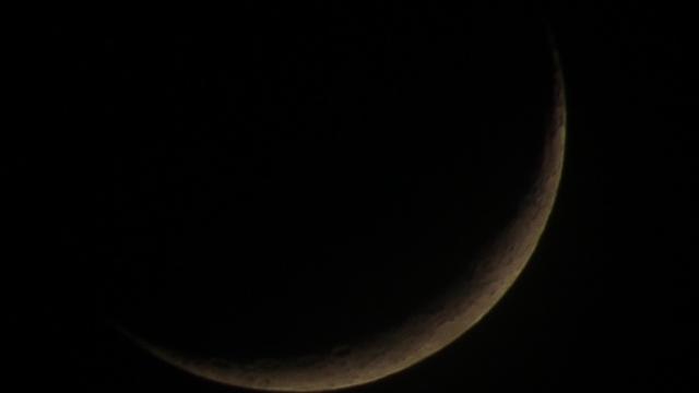 Zunehmende Mondsichel