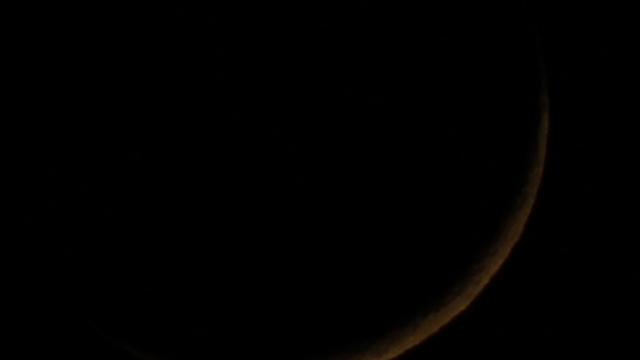 Dünner, zunehmender Mond