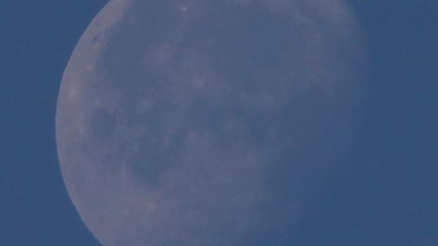 Der Mond vier Tage nach der Mondfinsternis