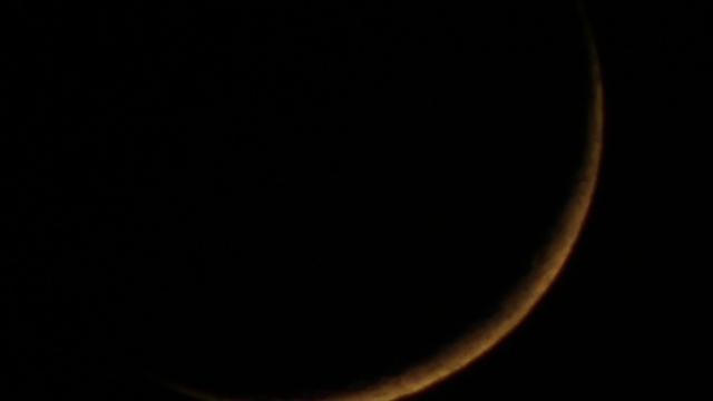 Dünne Mondsichel