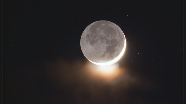 Mond mit aschgrauem Licht