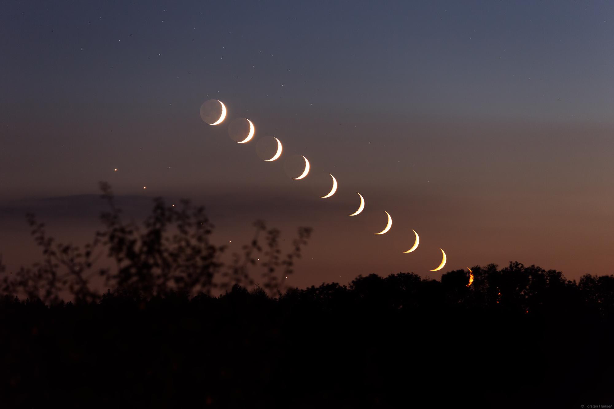 Venus bei Mond am 9. Oktober 2021