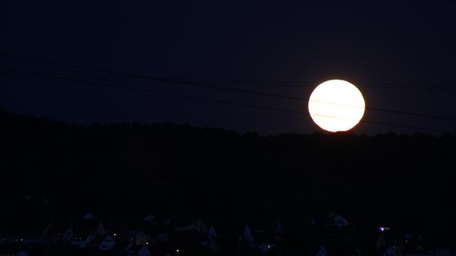 Mondaufgang über Leonberg