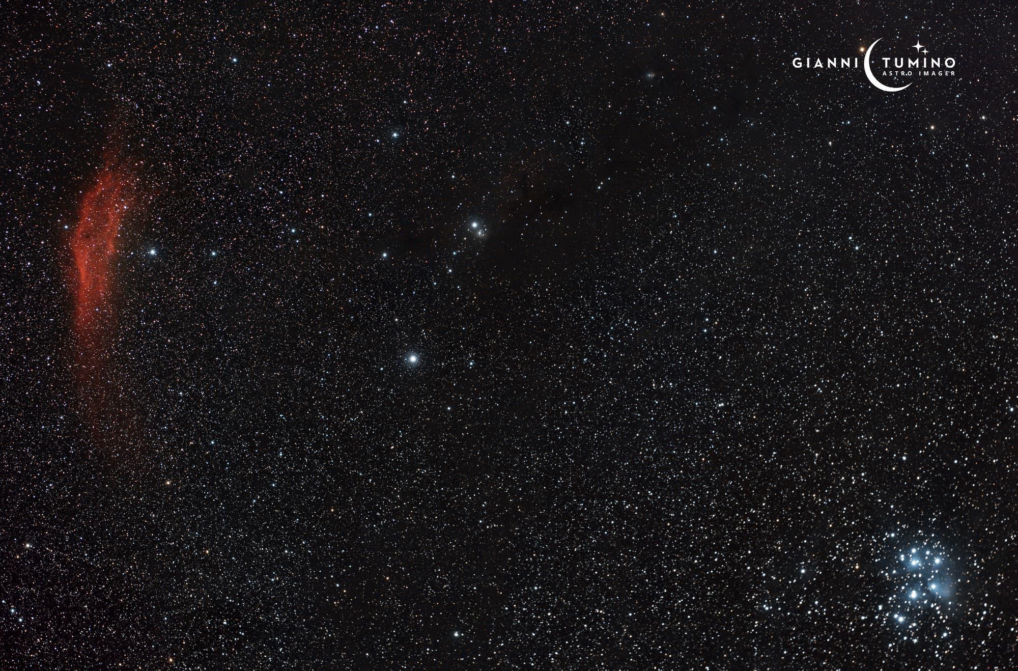 NGC 1499 & Messier 45