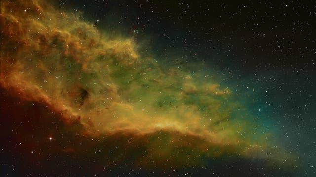 California-Nebel in der Hubble-Palette