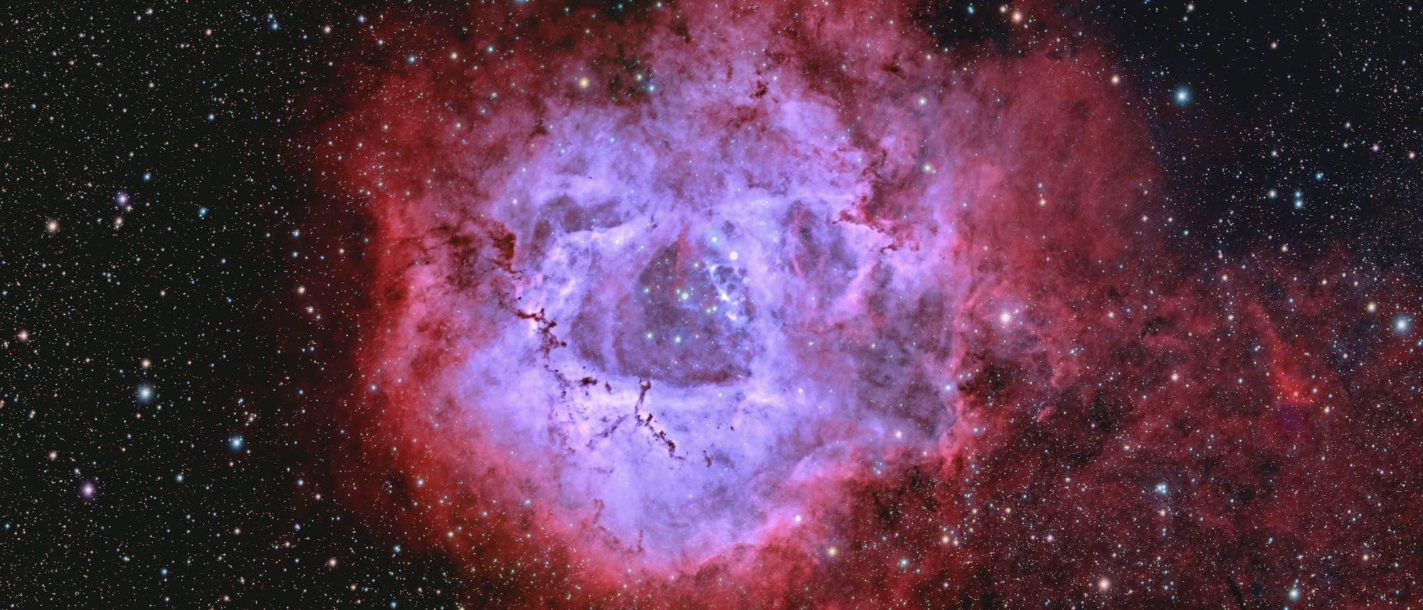 Rosettennebel NGC 2244, Bicolor-RGB