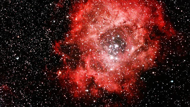 Rosettennebel mit offenem Sternhaufen NGC2244