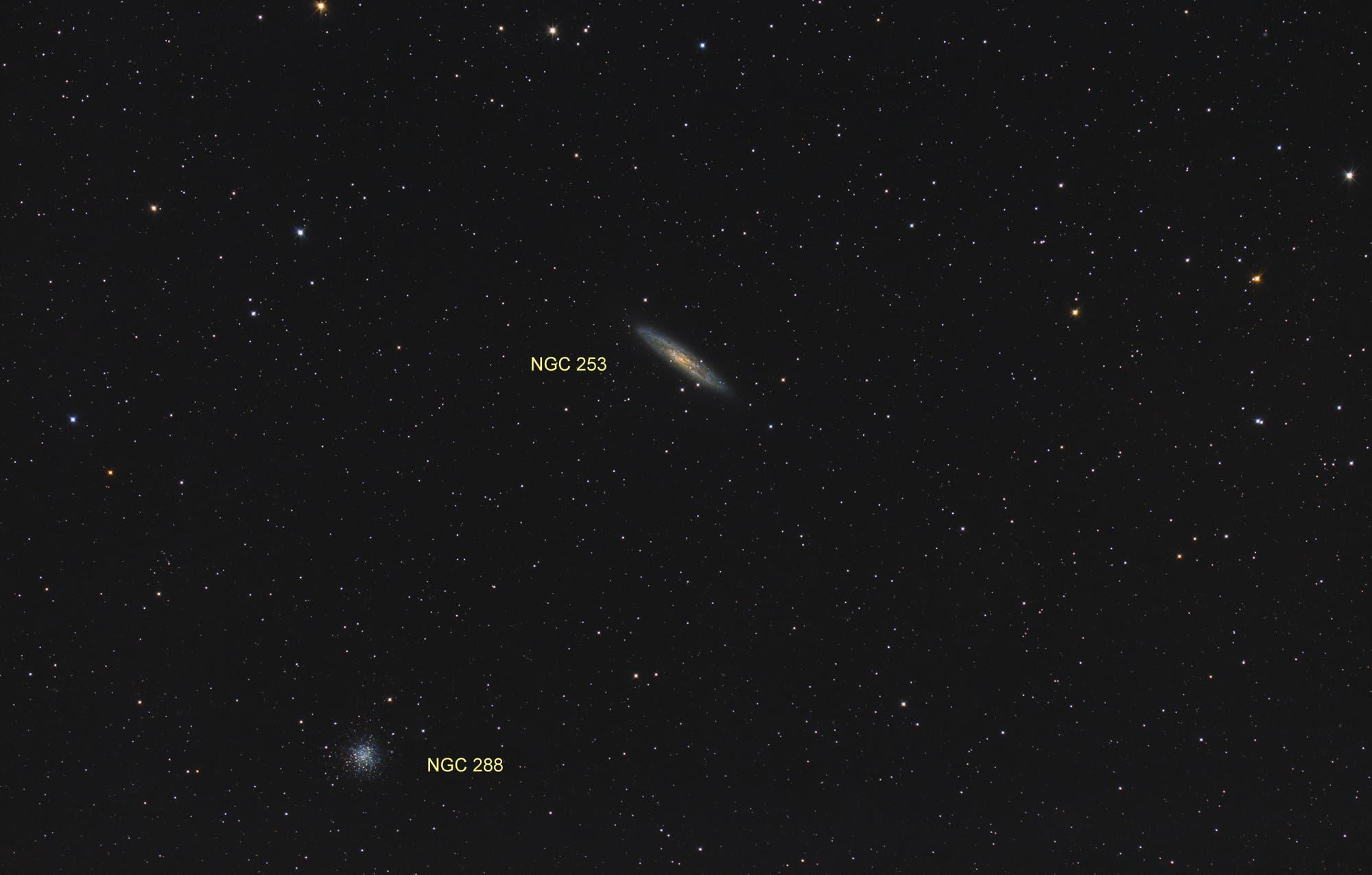 NGC 253 und NGC 288 (Objekte)
