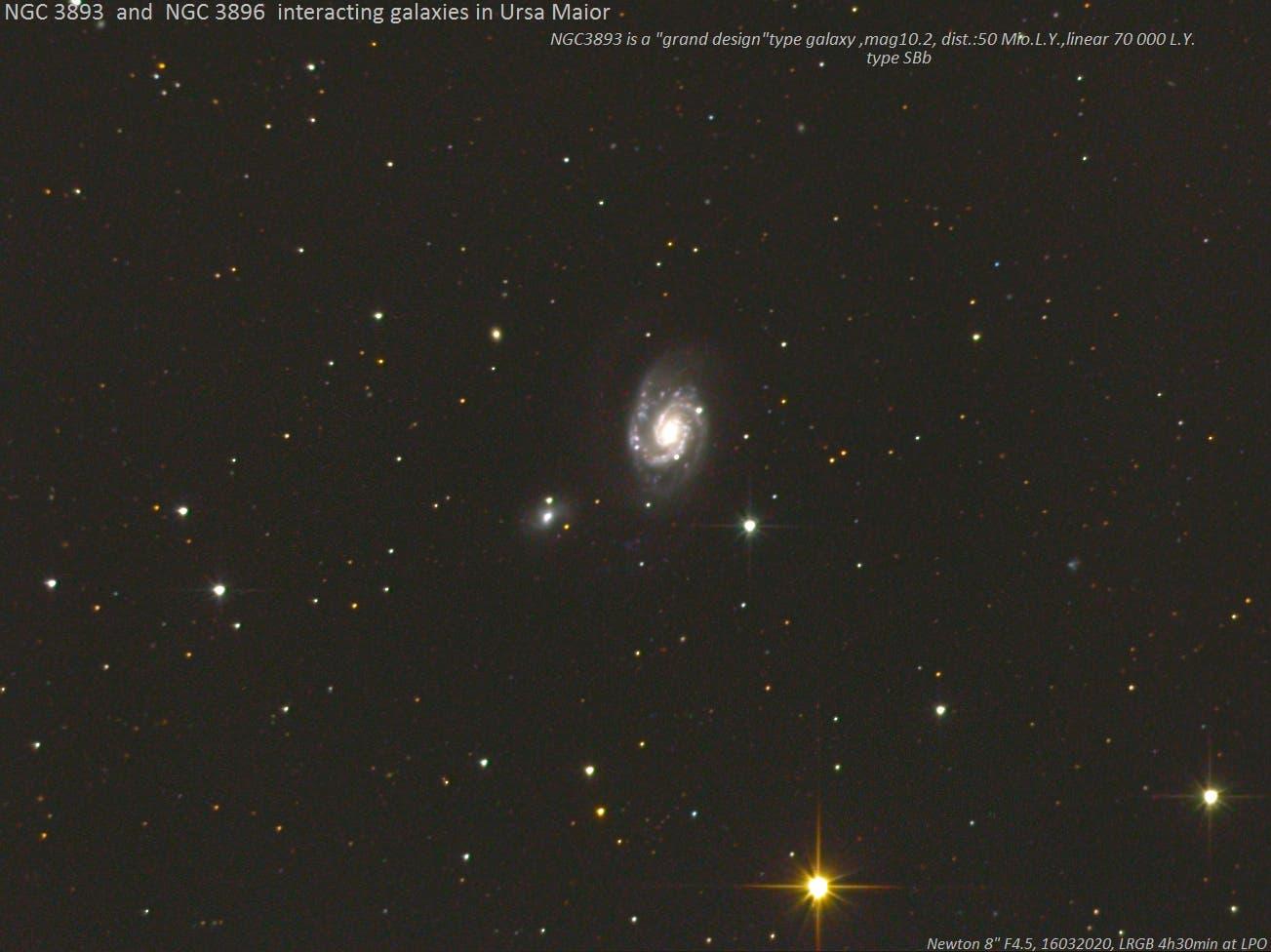 NGC3893-NGC3896   wechselwirkende Galaxien im Großen Bären