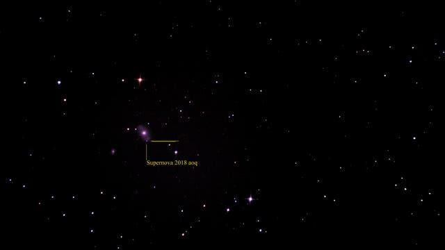 Supernova 2018aoq in NGC4151