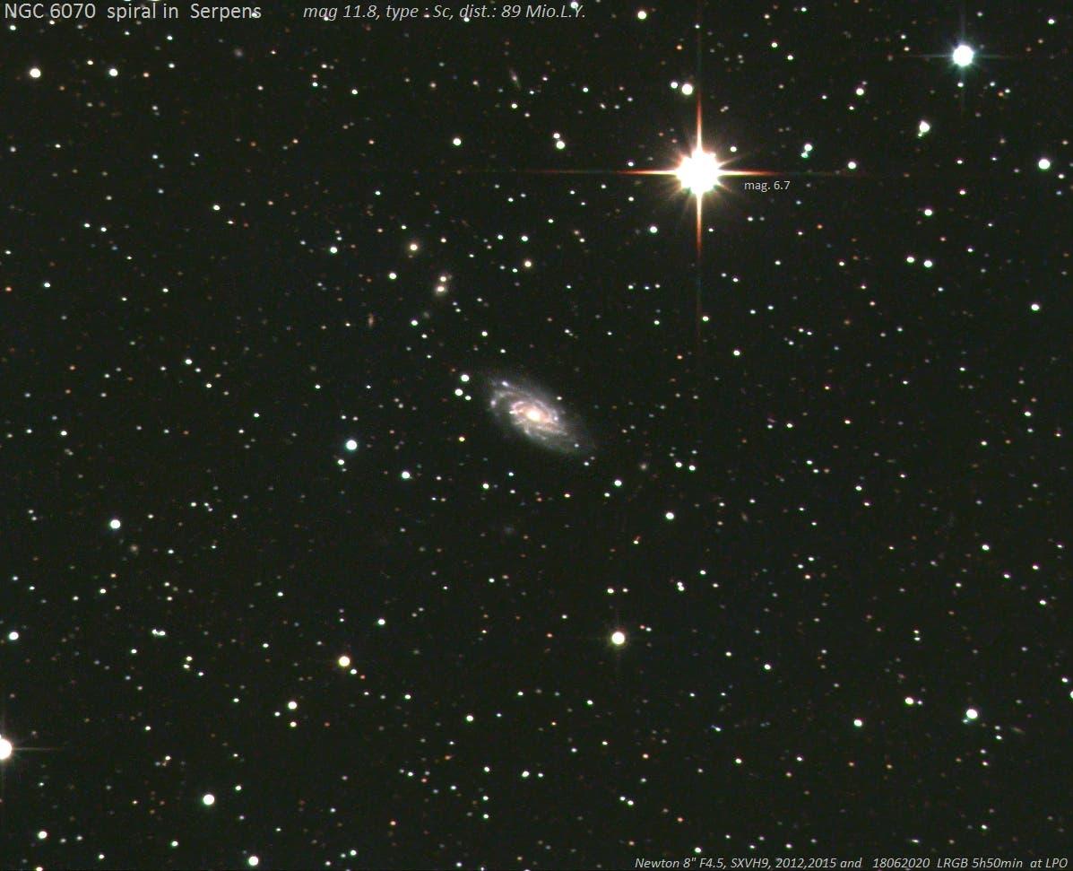 NGC 6070 - Spiralnebel in Serpens (Cauda)