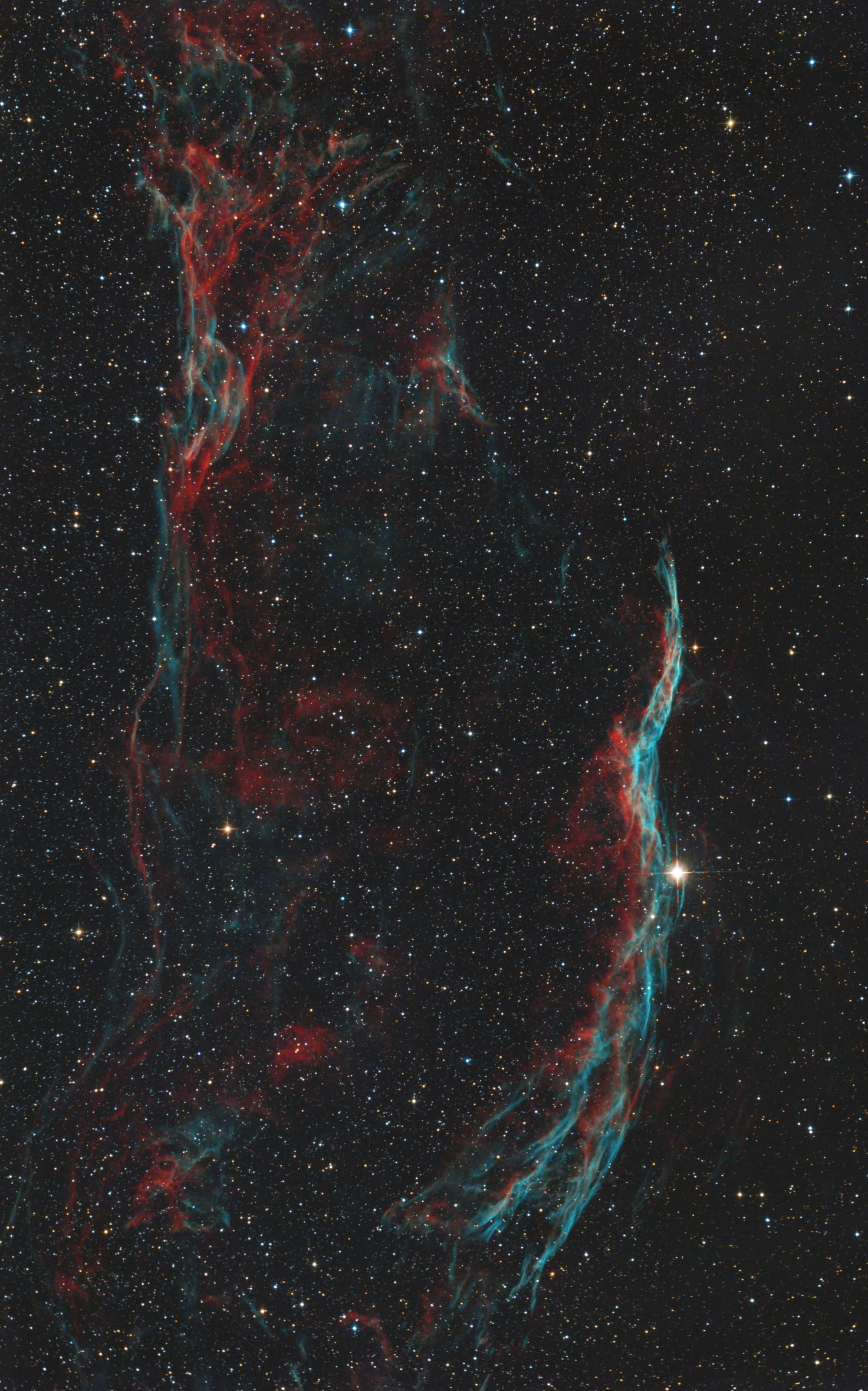 NGC 6960 Zirrusnebel (aufrecht)