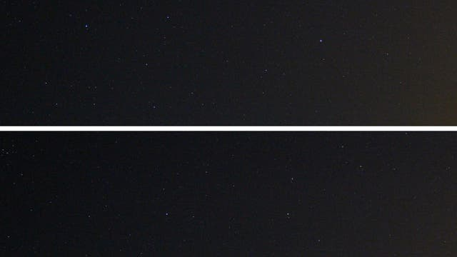 Das Sternbild Löwe mit Kleinplanet Vesta