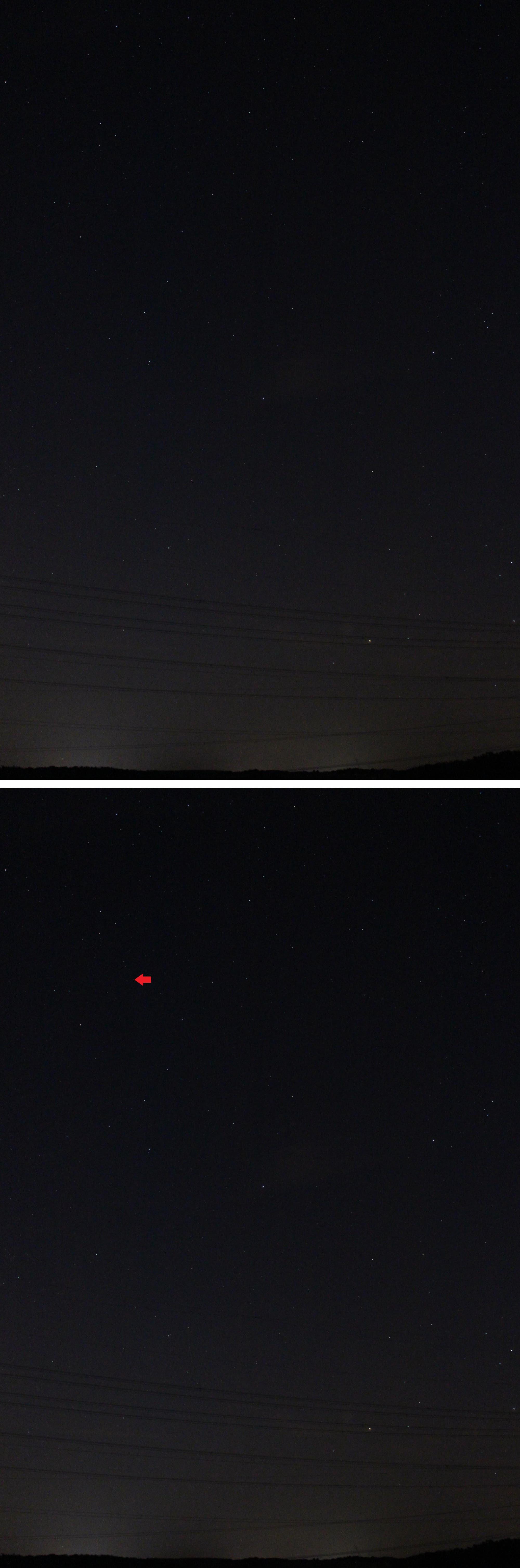Östlicher Teil des Sternbildes Schlangenträger mit RS Ophiuchi