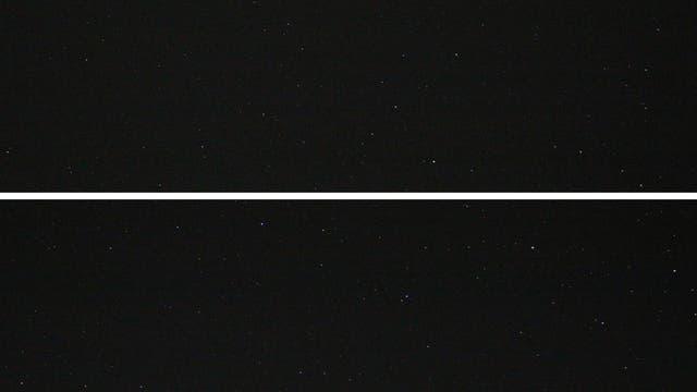 Grenzgebiet der Sternbilder Wassermann und Fische mit Neptun