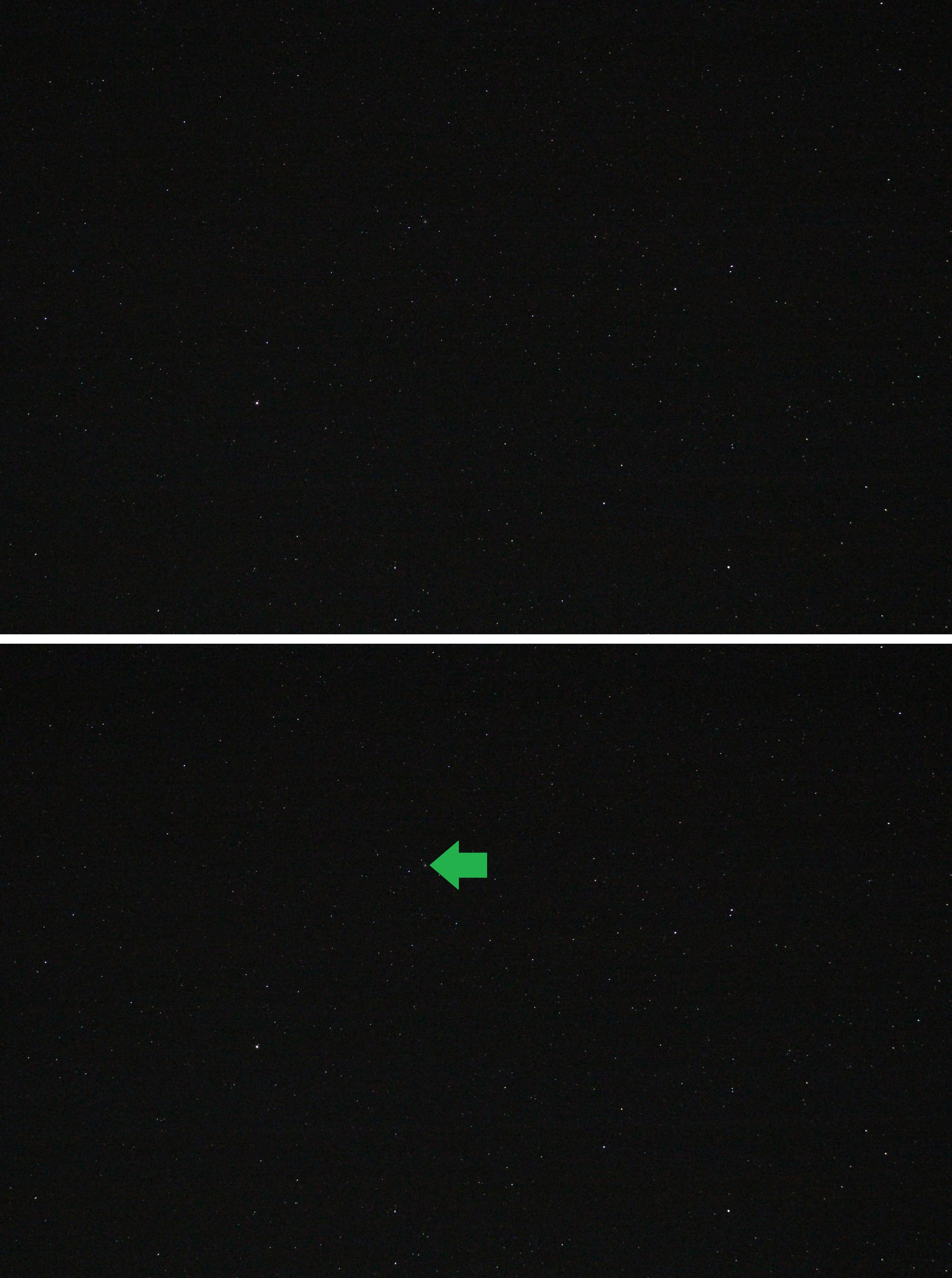 Sternbild Füllen und westliches Ende des Pegasus