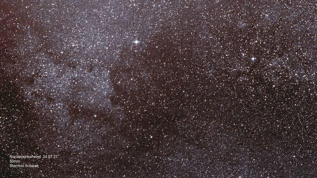 Sternbild Schwan mit Nordamerika-Nebel