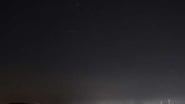 Aufgehendes Sternbild Orion