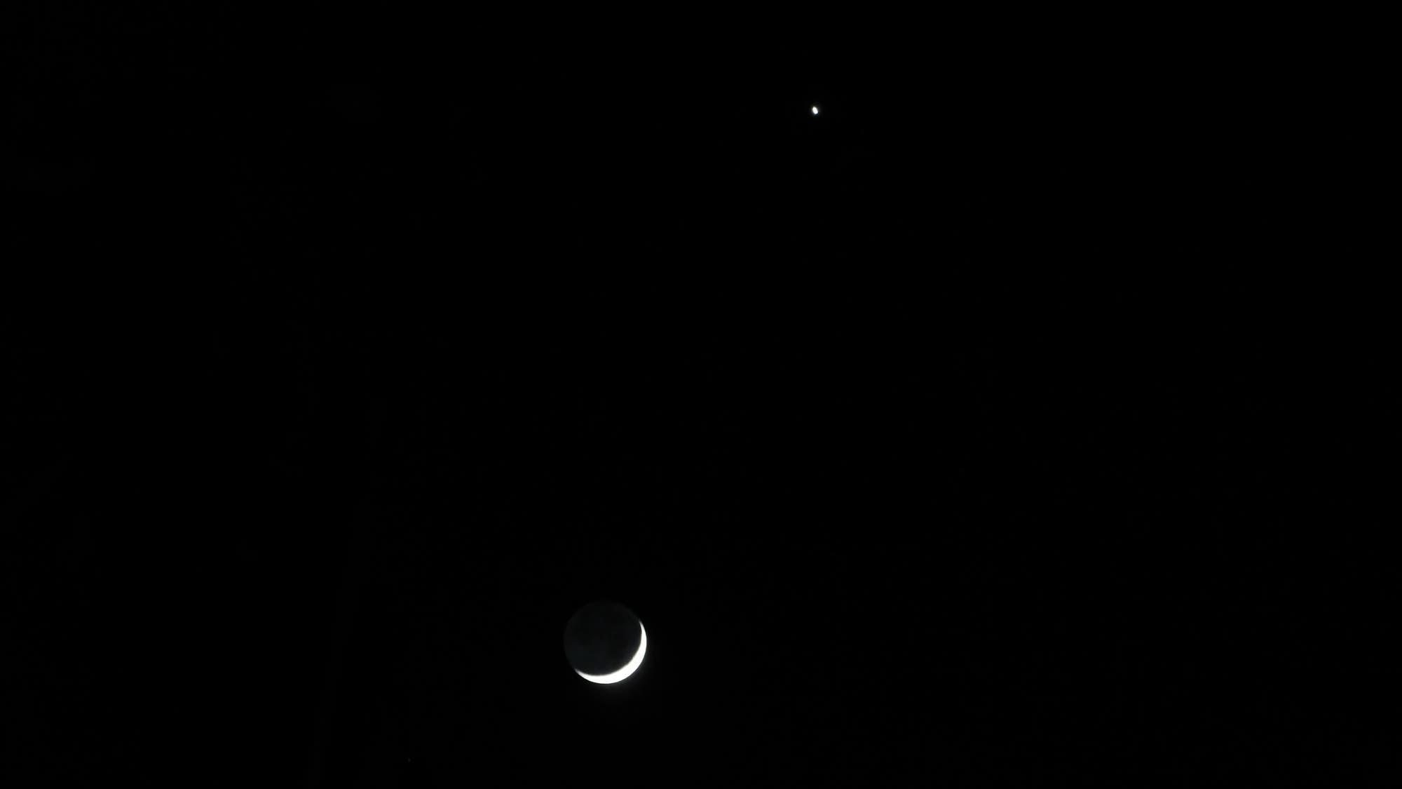 Mond bei Venus