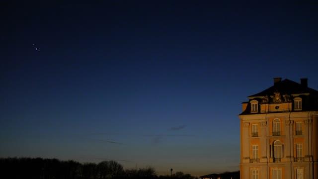 Jupiter und Saturn über Schloss Augustusburg, Brühl