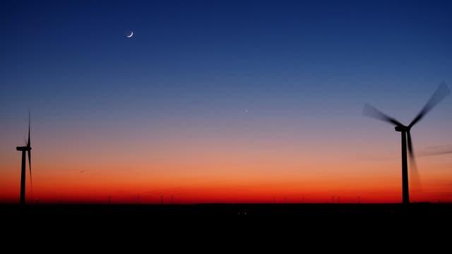 Mond-Venus-Merkur vom Trelder Berg