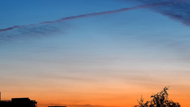 Venus und Merkur, ein Tanz am Abendhimmel