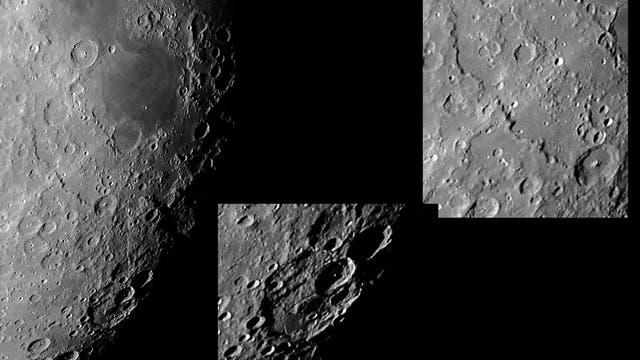 Detailansichten vom Mond