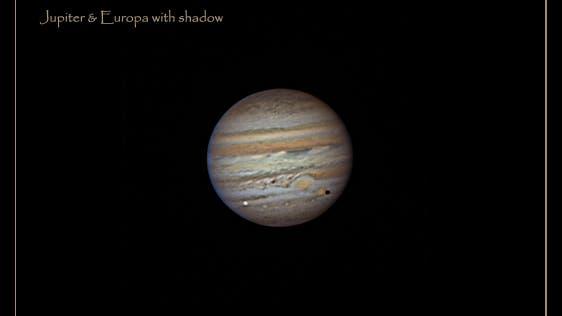Jupiter mit Europa und Schatten