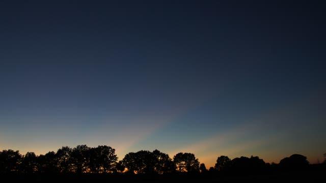 Purpurlicht in der Abenddämmerung